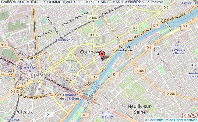 plan association Association Des CommerÇants De La Rue Sainte-marie Courbevoie