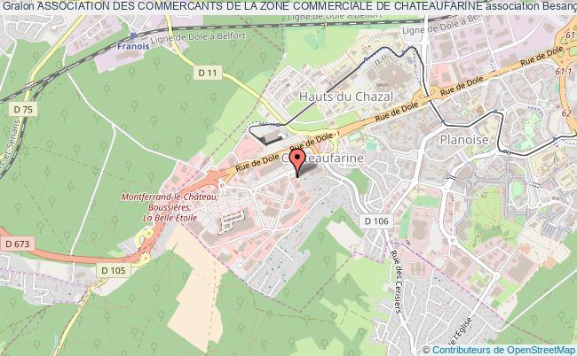 plan association Association Des Commercants De La Zone Commerciale De Chateaufarine