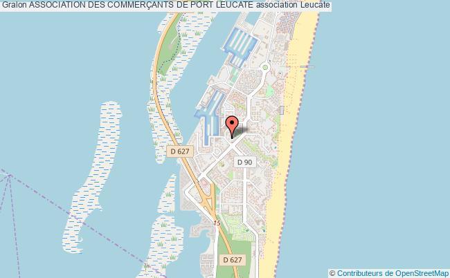 plan association Association Des CommerÇants De Port Leucate Port Leucate