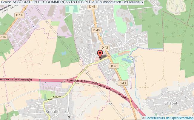 plan association Association Des CommerÇants Des Pleiades Les   Mureaux