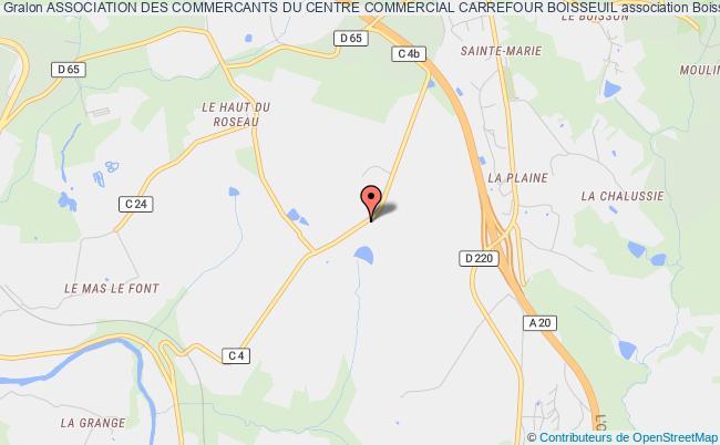 plan association Association Des Commercants Du Centre Commercial Carrefour Boisseuil