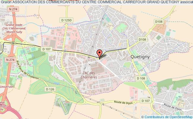Plan Association Des Commercants Du Centre Commercial Carrefour Grand Quetigny
