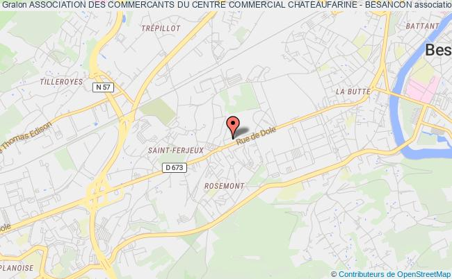 plan association Association Des Commercants Du Centre Commercial Chateaufarine - Besancon
