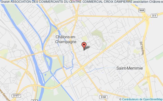 plan association Association Des Commercants Du Centre Commercial Croix Dampierre