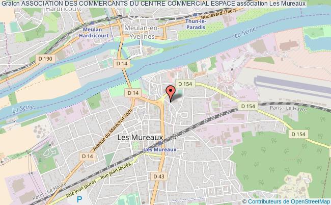 plan association Association Des Commercants Du Centre Commercial Espace Les   Mureaux