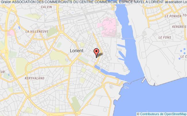 plan association Association Des Commercants Du Centre Commercial Espace Nayel A Lorient