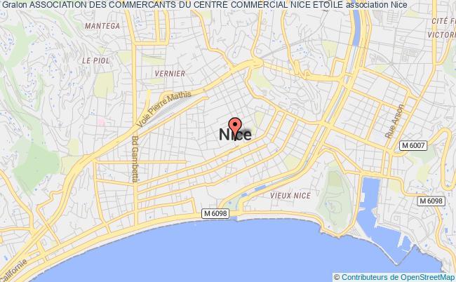plan association Association Des Commercants Du Centre Commercial Nice Etoile Nice