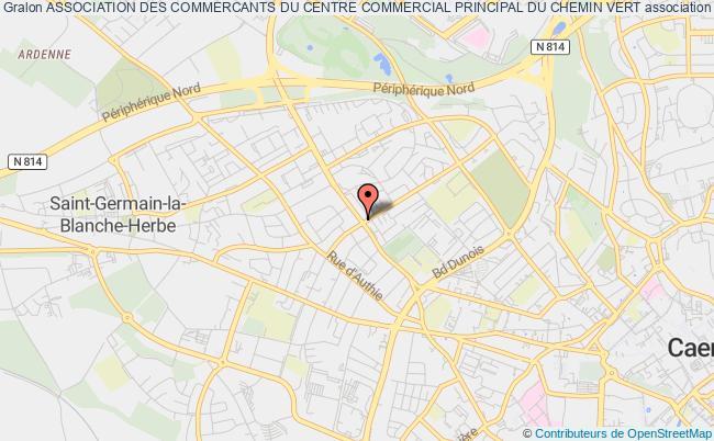 plan association Association Des Commercants Du Centre Commercial Principal Du Chemin Vert