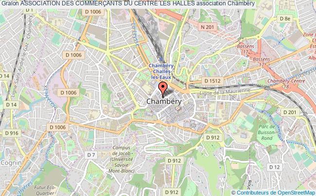 plan association Association Des CommerÇants Du Centre Les Halles