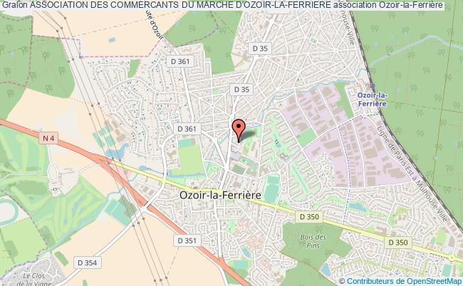 plan association Association Des Commercants Du Marche D'ozoir-la-ferriere Ozoir-la-Ferrière