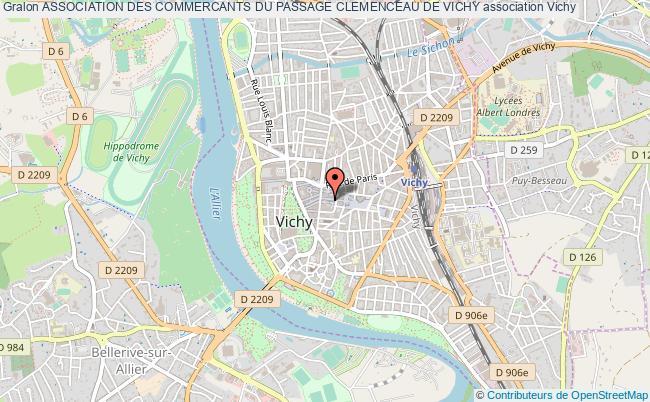 plan association Association Des Commercants Du Passage Clemenceau De Vichy