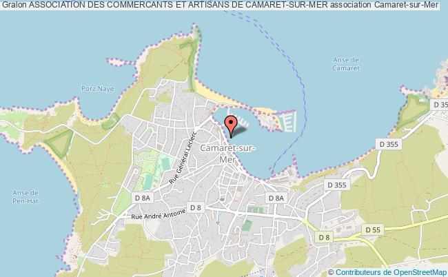 plan association Association Des Commercants Et Artisans De Camaret-sur-mer