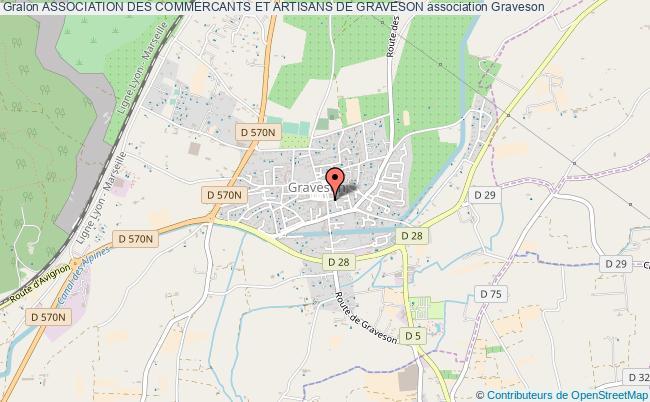 plan association Association Des Commercants Et Artisans De Graveson