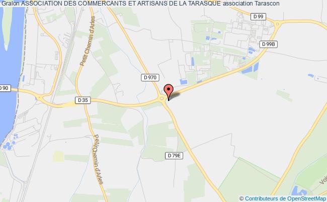 plan association Association Des Commercants Et Artisans De La Tarasque