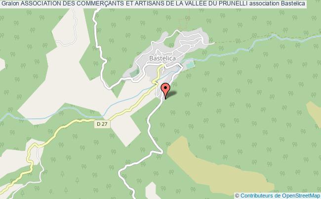 plan association Association Des CommerÇants Et Artisans De La VallÉe Du Prunelli