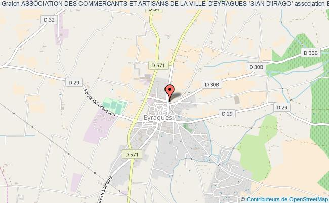 plan association Association Des Commercants Et Artisans De La Ville D'eyragues 'sian D'irago'