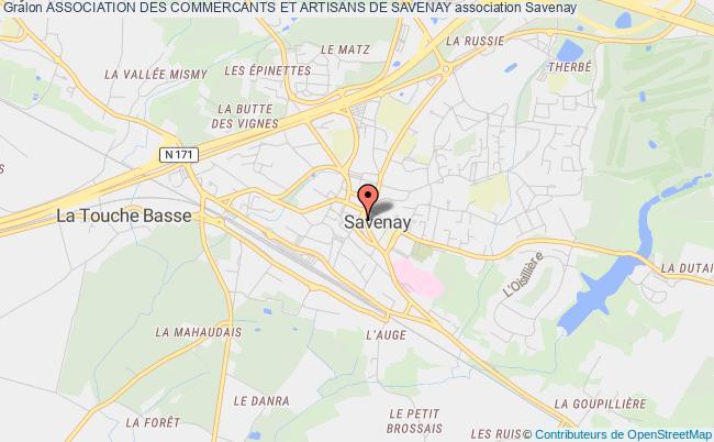 plan association Association Des Commercants Et Artisans De Savenay