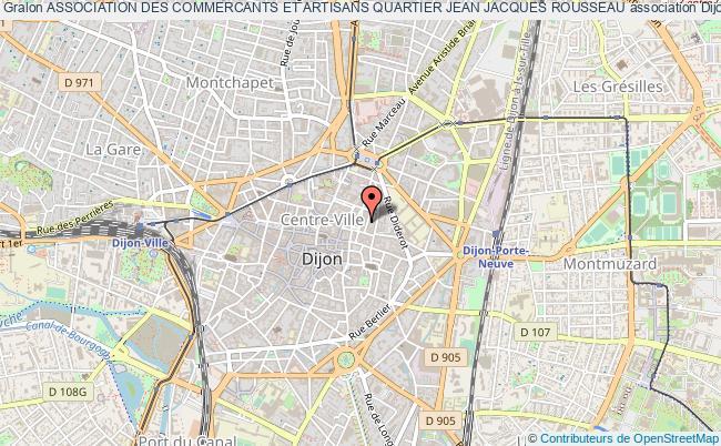 plan association Association Des Commercants Et Artisans Quartier Jean Jacques Rousseau Dijon