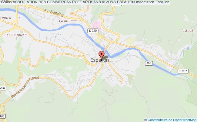 plan association Association Des Commercants Et Artisans Vivons Espalion