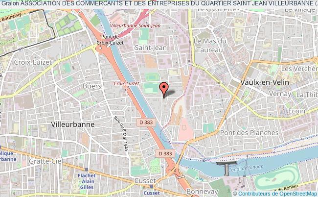 plan association Association Des Commercants Et Des Entreprises Du Quartier Saint Jean Villeurbanne (ace Saint-jean)