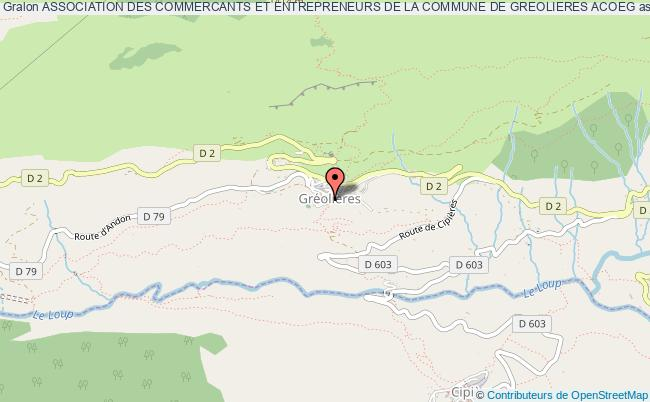 plan association Association Des Commercants Et Entrepreneurs De La Commune De Greolieres Acoeg