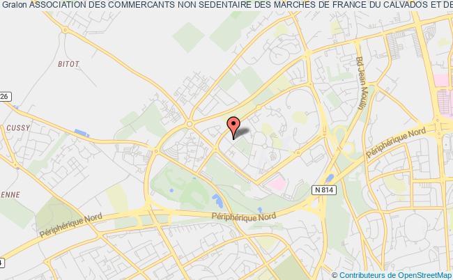 plan association Association Des Commercants Non Sedentaire Des Marches De France Du Calvados Et De L'orne (acnsmfco) Caen cedex 4