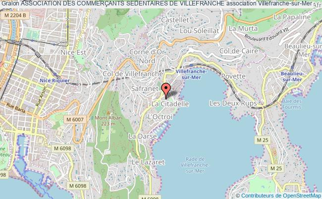plan association Association Des CommerÇants Sedentaires De Villefranche Villefranche-sur-Mer