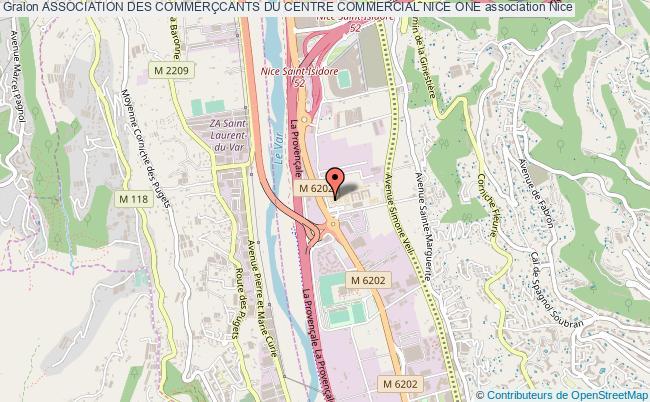 plan association Association Des CommerÇcants Du Centre Commercial Nice One Nice