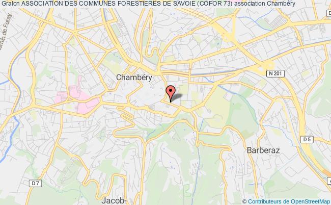 plan association Association Des Communes Forestieres De Savoie (cofor 73)