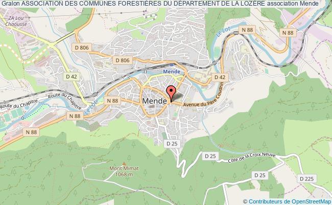 plan association Association Des Communes ForestiÈres Du DÉpartement De La LozÈre