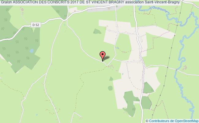 plan association Association Des Conscrits 2017 De St Vincent Bragny