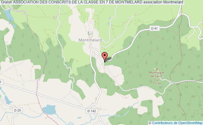 plan association Association Des Conscrits De La Classe En 7 De Montmelard
