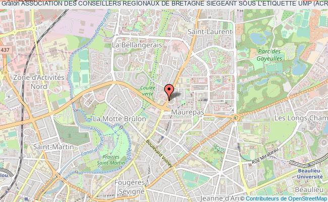 plan association Association Des Conseillers Regionaux De Bretagne Siegeant Sous L'etiquette Ump (acrb - Ump)