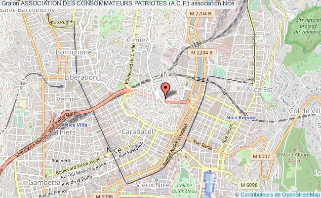 plan association Association Des Consommateurs Patriotes (a.c.p.) Nice