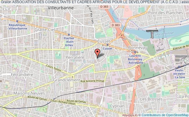 plan association Association Des Consultants Et Cadres Africains Pour Le Developpement (a.c.c.a.d.)