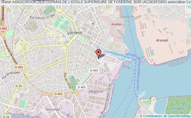 plan association Association Des Copains De L'ecole Superieure De Fonderie 2000 (acdesf2000)