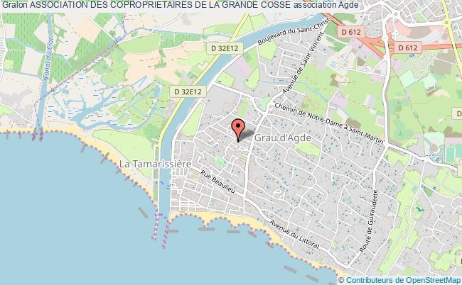 plan association Association Des Coproprietaires De La Grande Cosse Grau d'Agde