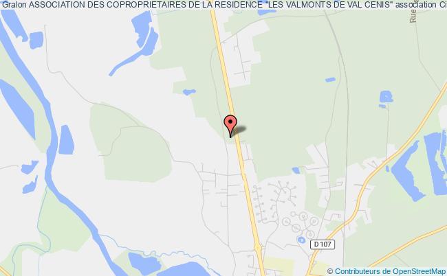 """plan association Association Des Coproprietaires De La Residence """"les Valmonts De Val Cenis"""" Civens"""