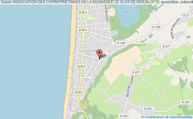 plan association Association Des Coproprietaires De La Residence Le Clos De Kerjalotte