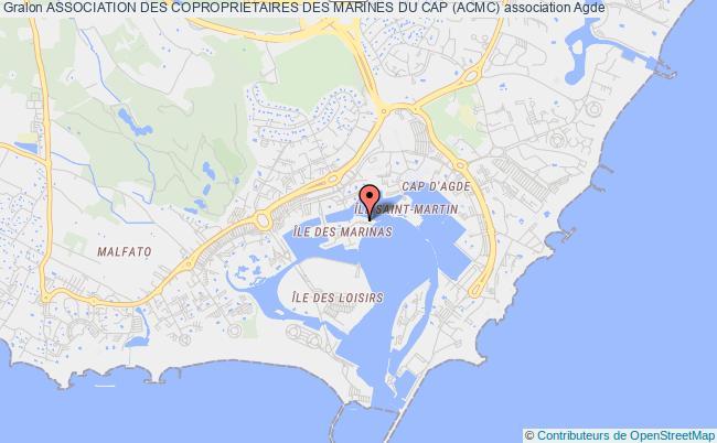 plan association Association Des Coproprietaires Des Marines Du Cap (acmc) Agde