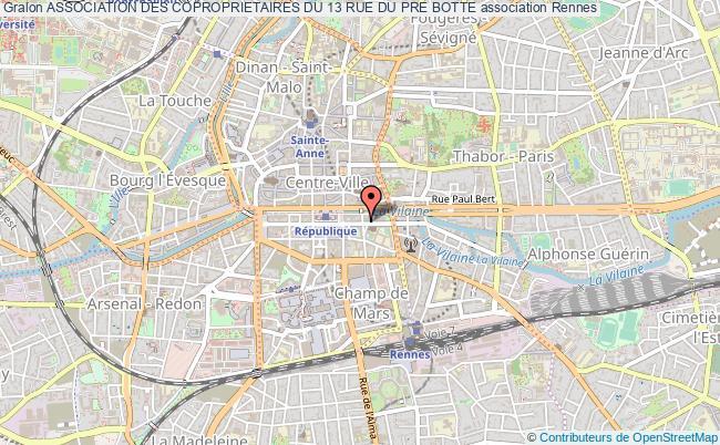 plan association Association Des Coproprietaires Du 13 Rue Du Pre Botte Rennes