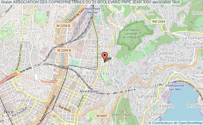 plan association Association Des Coproprietaires Du 25 Boulevard Pape Jean Xxiii