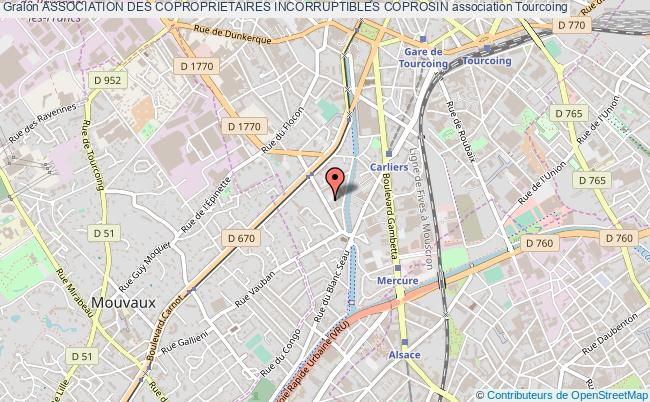 plan association Association Des Coproprietaires Incorruptibles Coprosin Tourcoing