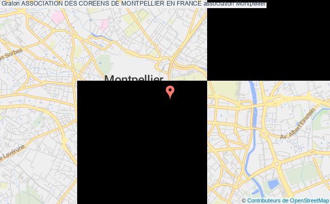 plan association Association Des Coreens De Montpellier En France