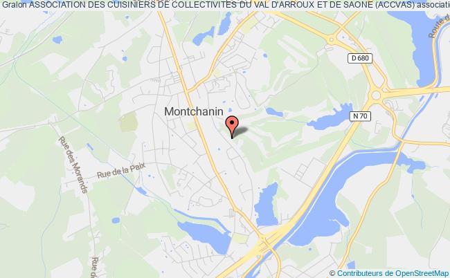 plan association Association Des Cuisiniers De Collectivites Du Val D'arroux Et De Saone (accvas)