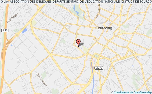 plan association Association Des Delegues Departementaux De L'education Nationale, District De Tourcoing