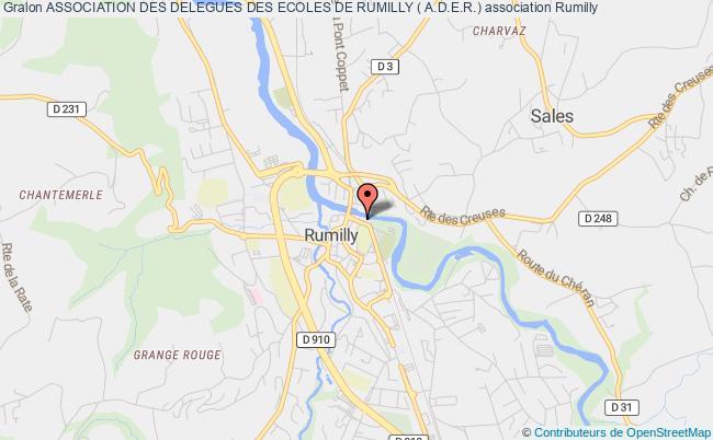 plan association Association Des Delegues Des Ecoles De Rumilly ( A.d.e.r.) Rumilly