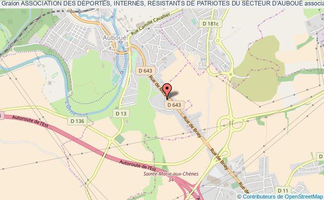 plan association Association Des DÉportÉs, InternÉs, RÉsistants De Patriotes Du Secteur D'aubouÉ