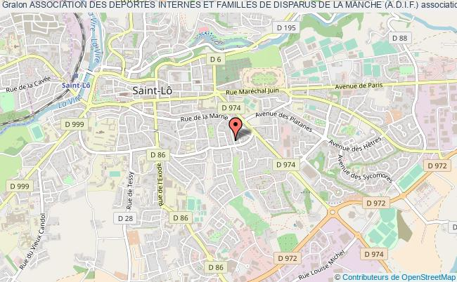 plan association Association Des Deportes Internes Et Familles De Disparus De La Manche (a.d.i.f.)