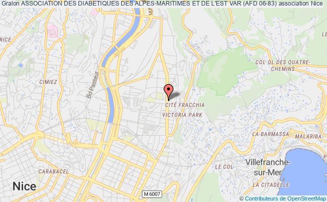 plan association Association Des Diabetiques Des Alpes-maritimes (afd 06) Nice